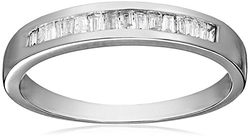 14k White Gold Baguette Channel Set Diamond Ring (1/5 cttw, I-J Color, I1-I2 Clarity), Size 7