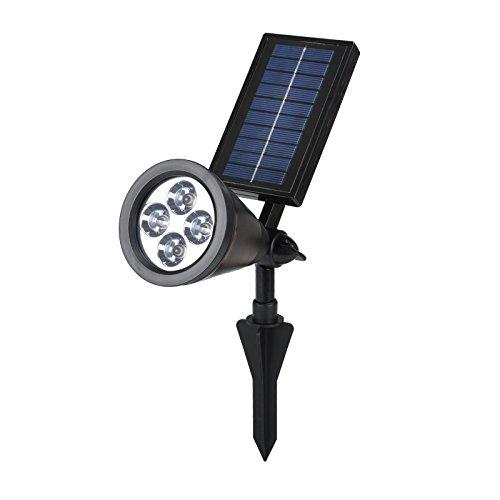 Gbgs Waterproof Ip44 Solar Powered Led Landscape Spot Lights Spotlight (White)