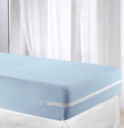 VELFONT-Frottee-Matratzenbezug-aus-100-elastischer-Baumwolle-Hellblaue-verfgbar-in-verschiedenen-Gren-90x190200cm