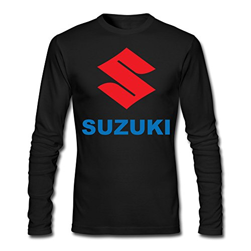 PNHK Men's Suzuki Motor Logo Long Sleeve T-shirt XX-Large Black (Suzuki Clothing compare prices)