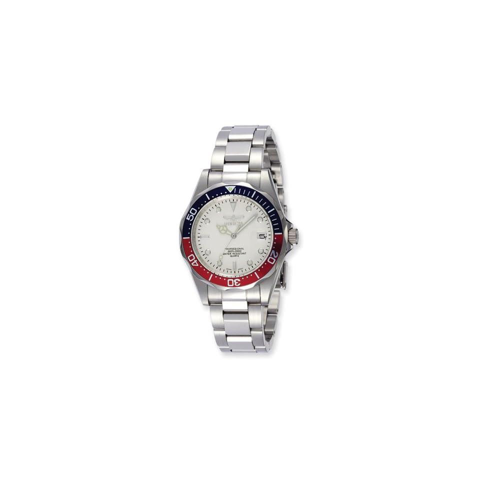 Mens Invicta Pro Diver Quartz White Dial Watch Jewelry