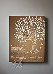 MuralMax - Personalized Family Tree & Lovebirds, Stretched Canvas Wall Art, Make Your Wedding & Anniversary Gifts Memorable, Unique Wall Decor, Color, Brown - Size 11x14 - 30-DAY Money Back Guarantee