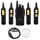 Baofeng 5 x Pofung GT-1 UHF 400-470MHz FM Two-Way Ham Radio Yellow (LOT 5) + 1 x Programming Cable (Color: Yellow)
