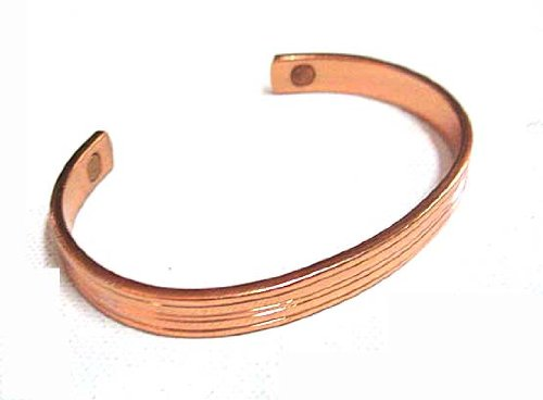 Men's Copper Cuff Magnetic Arthritis Golf Bracelet