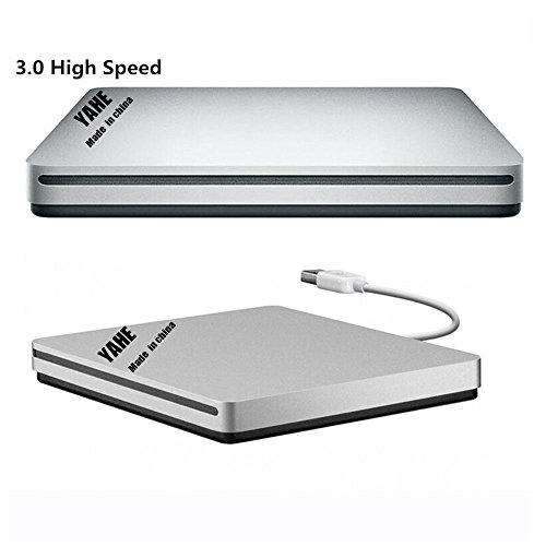 External DVD VCD CD Drive For Mac,YAHEY®USB3.0 Slot-loading DVD+RW Burner 8x SuperDrive Optical Drive for Apple MAC Pro Air iMAC,Support for All windows OS and other Laptop/Desktops (Imac Dvd Drive With Harness compare prices)