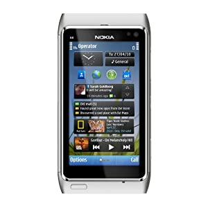 Nokia N8 Unlocked GSM Touchscreen Phone with GPS Navigation, Voice Navigation, 12 MP Camera, 720p Video capture, 16GB Internal Memory