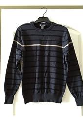 SPRING+ MERCER 'Grey Men's Stripped Sweater' Medium