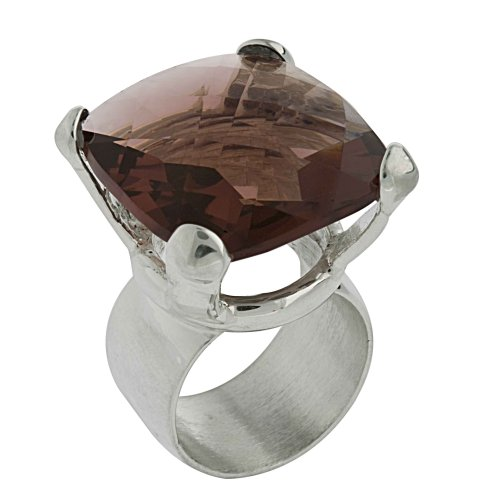 Squared Crystal Ring From the Crystal Collection Designed By Mauricio Serrano For Basic Jewelry