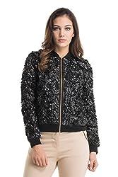 Kazo Women's Varsity Jacket (112730BLACKs)