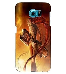ColourCraft Warrior Girl Design Back Case Cover for SAMSUNG GALAXY S6 EDGE G925