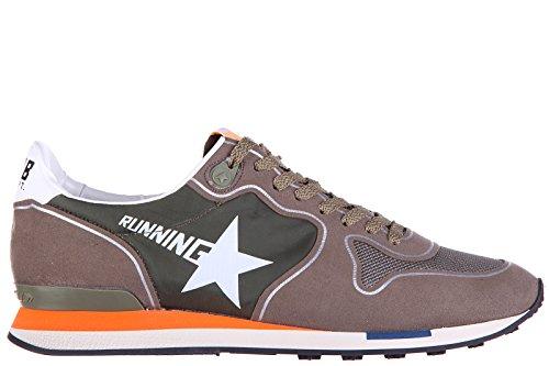 Golden-Goose-zapatos-zapatillas-de-deporte-hombres-en-ante-nuevo-running-verde