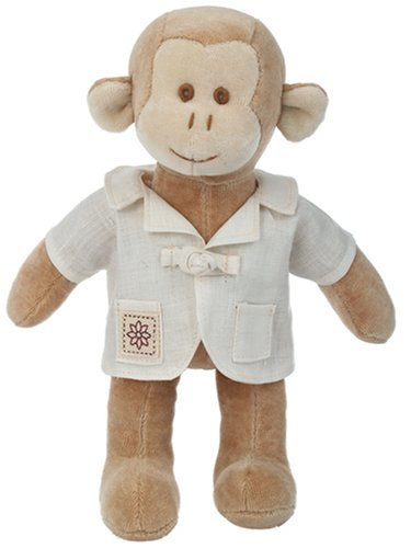 """Miyim Organic Plush Fairytale Collection - 9"""" Baby Fred The Monkey front-109952"""