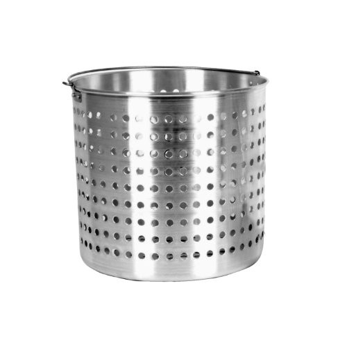 Thunder Group 16-Quart Aluminum Steamer Basket Fits ALSKSP003