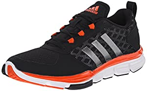 adidas Performance Men's Speed Trainer 2 Training Shoe, Black/Carbon Metallic/Collegiate Orange, 5.5 M US