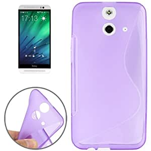 S Line Anti-slip Frosted TPU Case for HTC One E8 (Purple)
