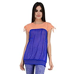 Terquois Georgette Top(676_Peach_M)
