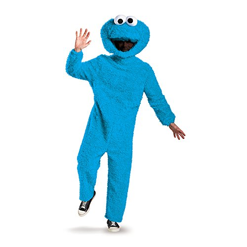 Disguise Men's Full Plush Cookie Monster Prestige Adult Costume