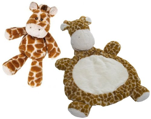 "Marshmallow Zoo Giraffe 9"" Plush Toy With Baby Mat front-990244"