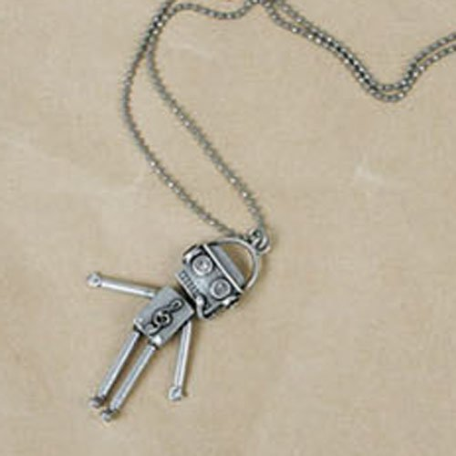 Retro Style Unique Cute Robot Necklace Fashion Sweater Chain Ancient Style Necklace front-83319