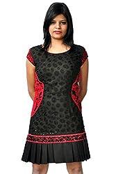 Manish Ahuja Designer Women's Hand Embroidered Georgette Dress