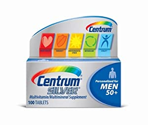Centrum Silver Men's Multivitamin Tablets -- 100 Tablets