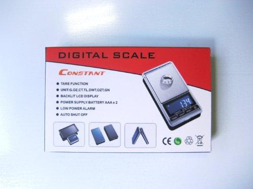 European & American Weigh Chrome Digital Pocket Scale, 100g by 0.01gm