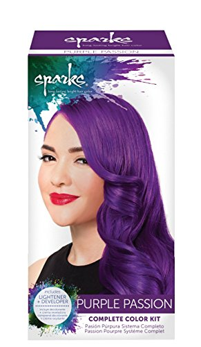 Sparks Complete Color and Lightener System, Purple Passion (Purple Red Hair Dye compare prices)