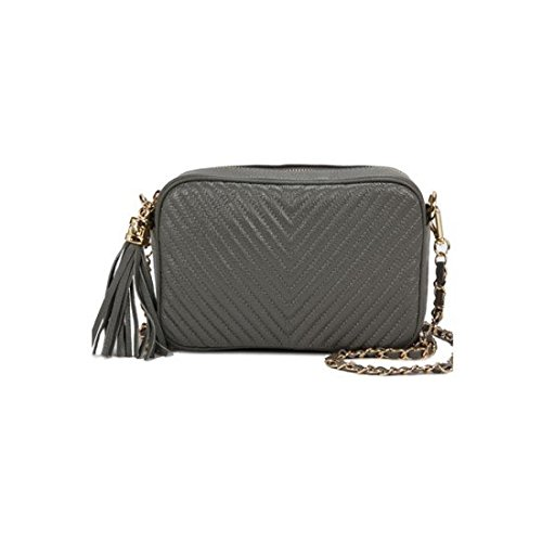 dearwyw-women-genuine-cow-leather-mini-oblique-quilted-square-cross-body-shoulder-bag-gray
