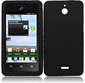 For Huawei Ascend Plus H881C Silicone Jelly Skin Cover Case Black Accessory