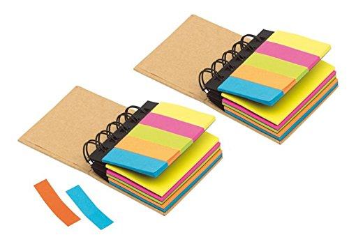 blocco-per-appunti-multi-memo-con-post-it-adesivi-blocco-da-conferenza-con-anelli-colore-marrone