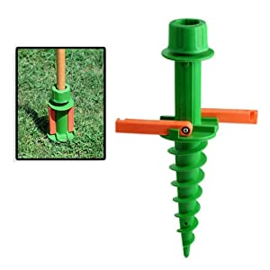 Quick & Easy In-Ground Umbrella Stand Pole Holder - Tiki Torches, Canopy from Industrial Tools