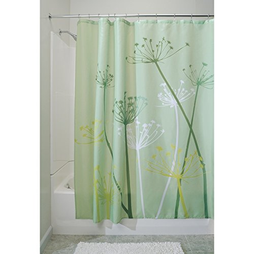 InterDesign Thistle Fabric Shower Curtain, 72 x 72-Inch, Green (Green Shower Curtain compare prices)