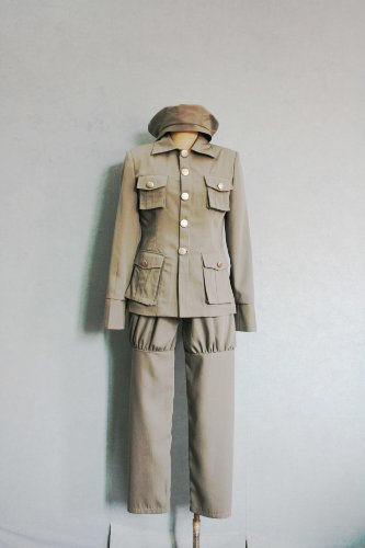Cosplay Costume L-Large Size Axis Powers Poland's military uniform Japanese