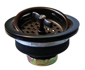 Westbrass D213-12 3-1/2-Inch Wing Nut Basket Strainer in Oil Rubbed Bronze