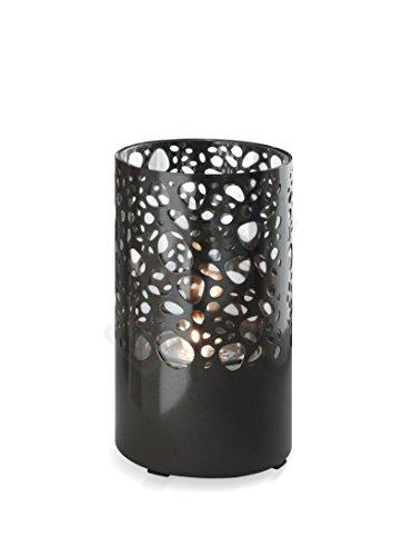 Stones Lighthouse Caminetto da tavolo al Bioetanolo, Metallo, Nero