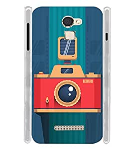 Vintage Flash Camera Soft Silicon Rubberized Back Case Cover for Panasonic Eluga Mark
