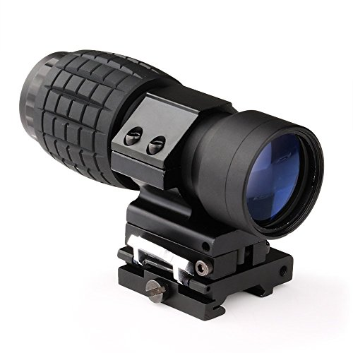 Read About Gowild Hunting 3X Magnifier Scope Sight with Flip To Side 20mm Weaver Rail Mount for Red ...