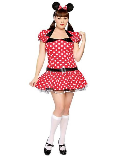 Adult Plus Size 3-pc Miss Mouse Costume