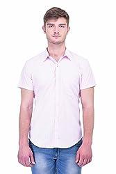 Trendster Pink Checks Half Sleeve Casual Men's Shirt