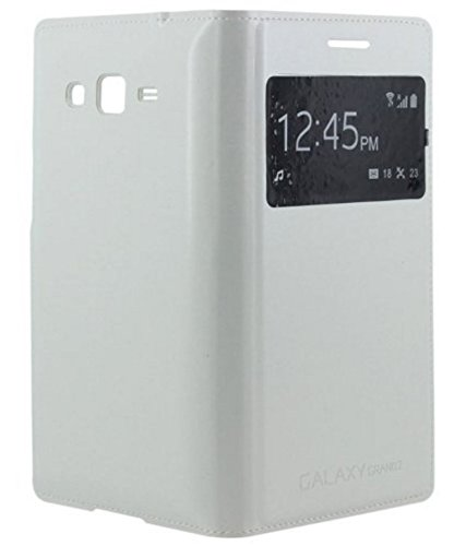 Samsung Galaxy Grand 2 S-View Flip Cover Diary Case -White - Minter Brand  available at amazon for Rs.195