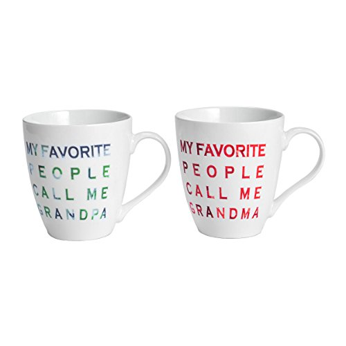 Pfaltzgraff Everyday Mug, Call Me Grandma and Grandpa, 18-Ounce, Set O 2 (Grandpa Coffee Mug compare prices)