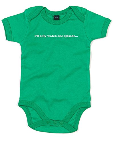 I'll Only Watch One Episode, Printed Baby Grow - Kelly Green/White 6-12 Months (Supernatural Season 1 Episode 9 compare prices)