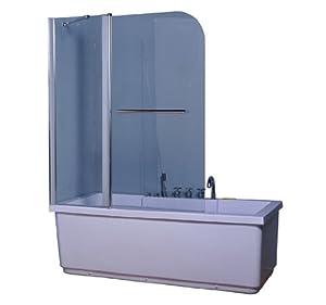 Raumsparende Eckbadewanne, Maße: 160x100x43,5cm - eckbadewanne ... | {Eckbadewanne mit duschwand 18}