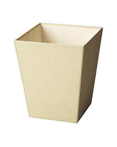 Butler Specialty Lido Leather Storage Basket, Cream