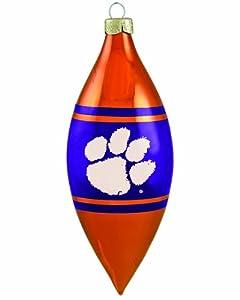NCAA Clemson Tigers 3-Piece Glass Tear Drop Ornament Set