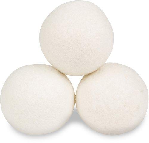 Smart Sheep 3-Pack Premium Wool Dryer Balls ~ Reusable, Natural Fabric Softener