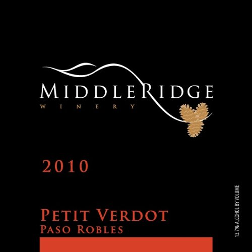 2010 Middle Ridge Winery Petit Verdot, Paso Robles 750 Ml