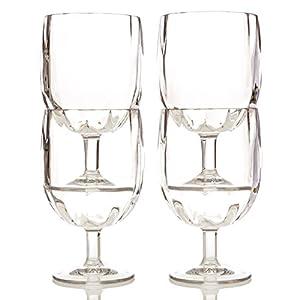 Shatterproof short stem wine glasses 11oz from savorware unbreakable tritan plastic - Short stemmed wine glass ...
