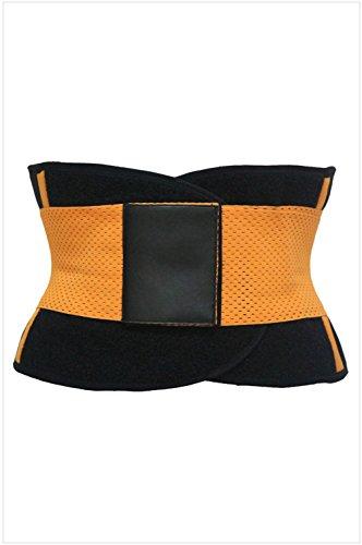 peggynco-womens-orange-sweat-band-waist-training-belt-size-m