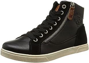 Tom Tailor 8591403, Sneakers Hautes femme, Noir (Black), 39 EU